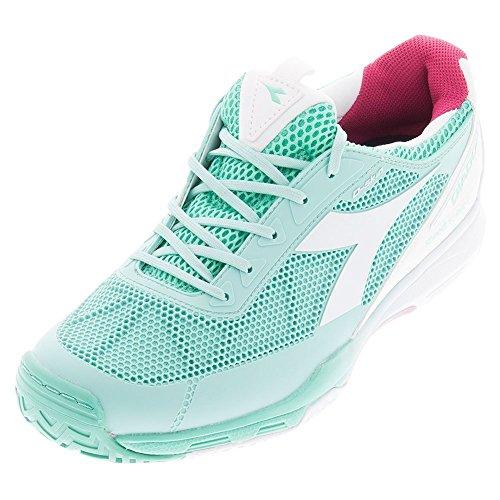 Diadora Women's Speed Pro Evo II Tennis Shoes (Green Cockatoo/White) (9.5 B(M) US)