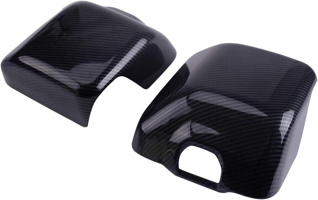 beler Accessoires de garniture de couvercle de r/étroviseur ext/érieur droit et gauche en fibre de carbone