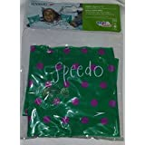 Speedo Basic Inflatable Armbands, Level 2 Swim Aids, Ages 2+, Teal with Purple Polka Dots