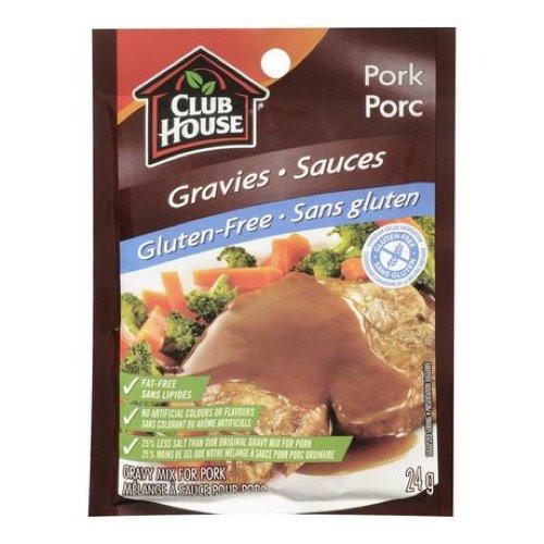 Club House, Dry Sauce/Seasoning/Marinade Mix, Pork Gravy, Gluten-Free, 24g
