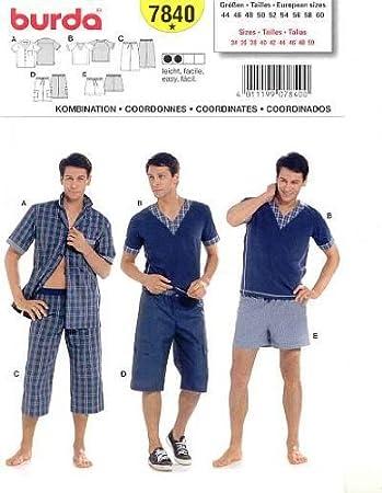 Schnittmuster Burda 7840 Pyjama Gr. 44-60: Amazon.de: Küche & Haushalt