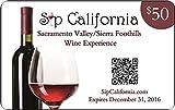 2016 Sip California Sacramento Valley/Sierra Foothills Wine Experience Membership Card