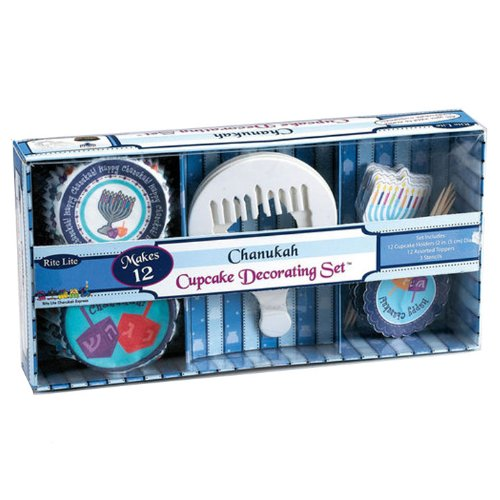 Chanukah Cupcake Decorating Set Hanukkah Accessories