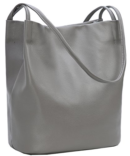 f05eabb64553 Iswee Tote Bag Stylish Ladies Hobo Bag Large Capacity Bucket Bag Shoulder  Bag Designer Purse for Women (Gray)