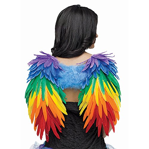 Fun World Women's Angelic Wings Costume Accessory, Multi, Standard -