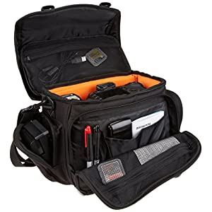 AmazonBasics Large DSLR Gadget Bag (Orange interior)