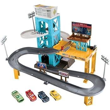 Amazon Com Disney Pixar Cars Wheelies Playset Mater S