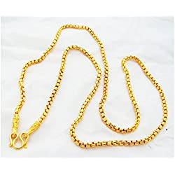 "Chain 22k 23k 24k Thai Baht Gold GP Necklace 24"" Jewelry jewellery 32 Grams"