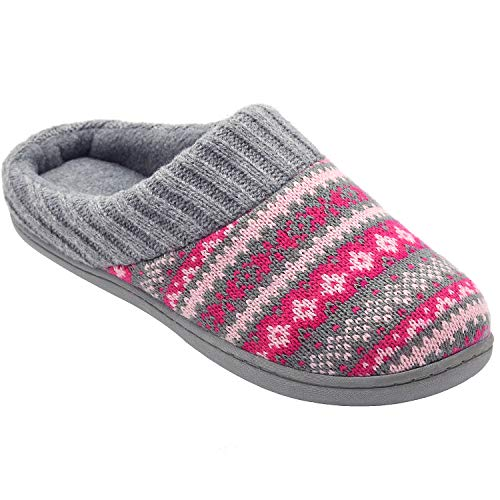 Pictures of RockDove Sweater Knit Scuff Slippers Women (7- 3