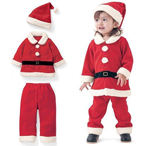 Oswald Dan Babys Christmas Santa Costume and Hat