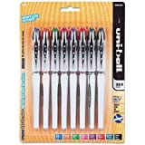 Uni-Ball Vision Elite Rollerball Pen Assorted Color 8-Pack Airplane Safe #90199