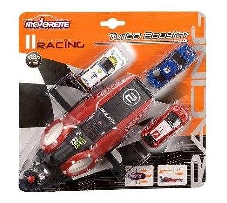 Dickie Toys Majorette - Set con lanzador Majorette y 3 coches, color rojo (20850300
