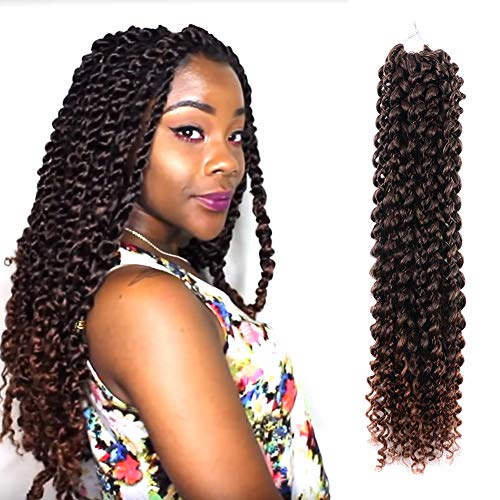 - Passion Twist Hair Ombre Brown 18 inch 6 packs Water Wave Crochet Braids for Passion Twist Crochet Hair Passion Twist Braiding Hair Extensions