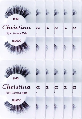 Christina 12 Pack False Eye Lashes Style - Eye Style