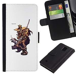 All Phone Most Case / Oferta Especial Cáscara Funda de cuero Monedero Cubierta de proteccion Caso / Wallet Case for Samsung Galaxy Note 4 IV // Elm Street Killer