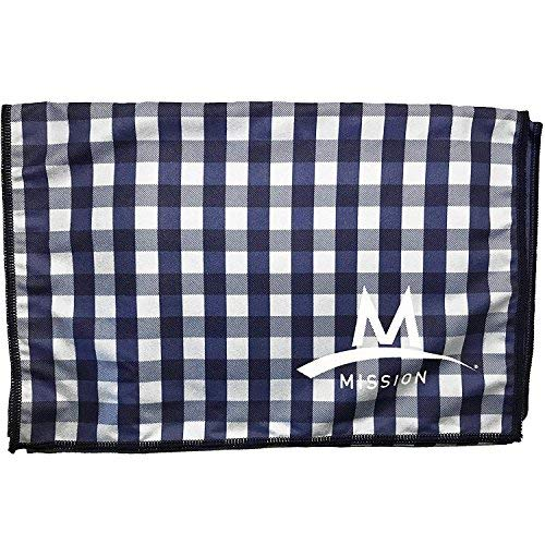 Mission Enduracool Microfiber Cooling Towel, Gingham, Large
