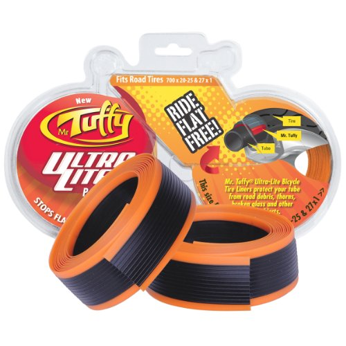 (Mr. Tuffy Ultra Lite Bicycle Tire Liner, Orange)