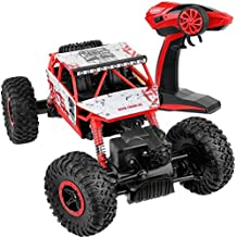 Click N' Play Remote Control Car 4WD Off Road Rock Crawler Vehicle 2.4 GHz, Red