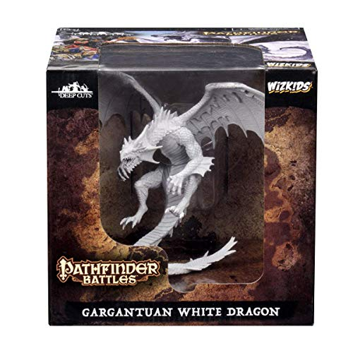 WizKids Pathfinder Battles: Deep Cuts Unpainted Miniatures: Gargantuan White Dragon