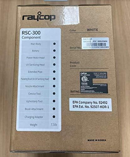 Raycop Omni Air UV+ | Cordless Stick Vacuum Cleaner | Compact | Sanitizing UV Light | Eliminates Bacteria and Viruses | White