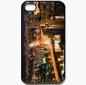 Protective Case Back Cover For iPhone 4 4S Case USA Florida Miami Black