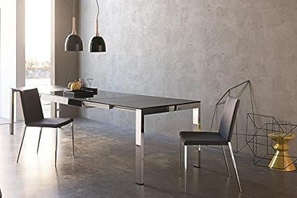 Ideapiu Idea Tavoli In Vetro Fissi E Allungabili Genius Tavolo 130x90 Allungabile Sino A 330 Amazon It Casa E Cucina