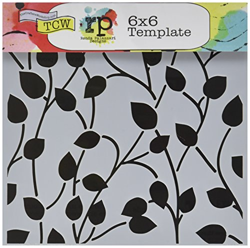 UPC 842254024285, Crafter's Workshop Template, 6 by 6-Inch, Climbing Vine Reversed