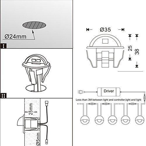 FVTLED-LED-Stair-Lights-Kit-Low-Voltage-Waterproof-IP65-Outdoor-Half-Moon-1-25-Stainless-Steel-Recessed-Wood-Deck-Lighting-Yard-Garden-Patio-Step-Landscape-Pathway-LED-Light