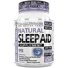 Sleep Aid W/Melatonin Non Habit Forming Natural Sleeping Supplement Pills 60 Capsules Chamomile Magnesium Valerian GABA Lemon Balm Extract Nighttime Herbal Formula Stress Anxiety Insomnia Relief