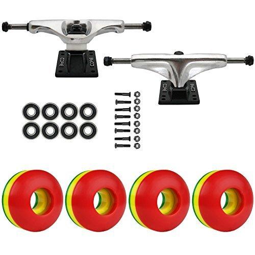 スケートボードパッケージCoreシルバー5.0 Trucks 50 Mm Rasta 3色ABEC 7 Bearings [並行輸入品]   B078WVMWDN