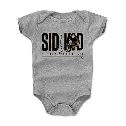500 LEVEL Sidney Crosby Pittsburgh Penguins Baby Clothes, Onesie, Creeper, Bodysuit (6-12 Months, Heather Gray) - Sidney Crosby Shadow K