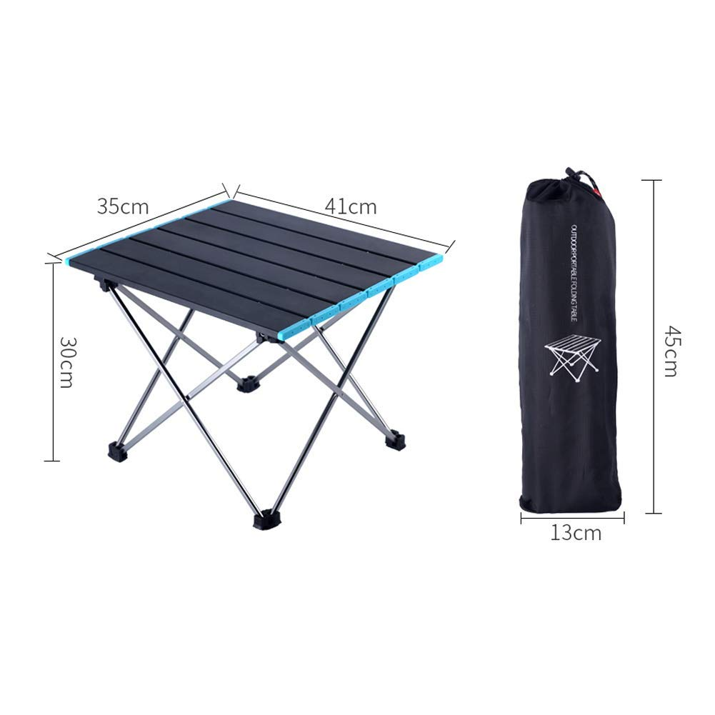 Bleu Voyage Reuvv Pliante Aluminium Table Ultralight Portable Support Camping Ext/érieur Jardin Enroulable pour Int/érieur /& Usage L/éger Picnic Facile /à Propre Barbecue Camp