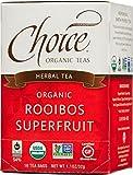 Choice Organic Rooibos Superfruit Tea, 16 Count Box