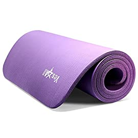 """Yes4All Premium NBR Printed Yoga Mat 1/2-inch (72""""x24"""") with Carrying Strap – Multi Color Available – Beautiful Designs…"""