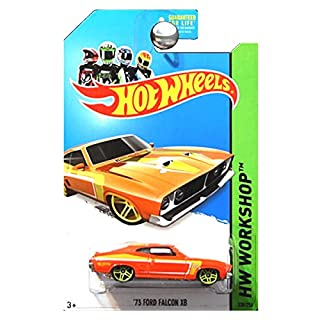 Hot Wheels HW Workshop Muscle Mania 1973 Ford Falcon XB in Orange and Yellow