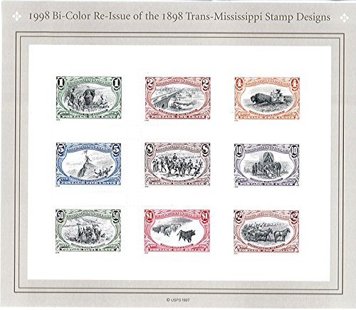 Scott 3209 - US Stamp - 1998 - 1c to $2 Re-Issue of the 1898 Trans-Mississippi Design - Sheet of 9 Stamps