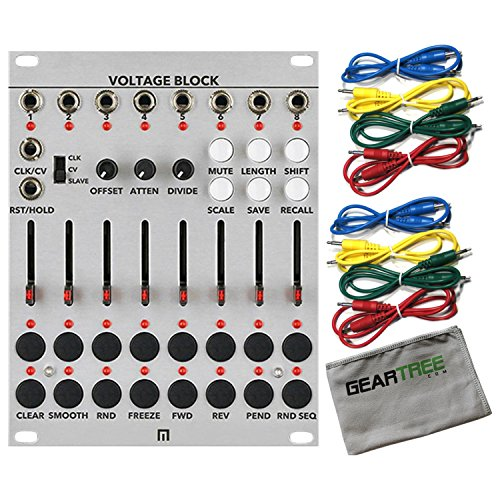 Malekko Voltage Block 8-CHANNEL 16-STAGE CV SEQUENCER w/Geartree Cloth and 8 Ca ()