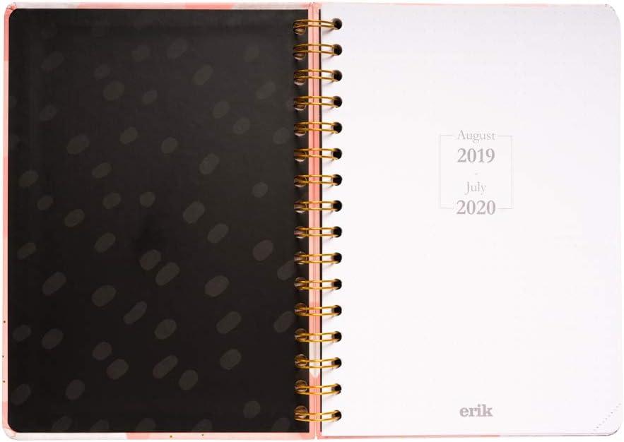 Agenda escolar 2019/2020 A5 12 meses Semana Vista Glitter: Amazon ...