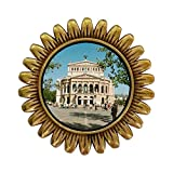 GiftJewelryShop Ancient Style Gold-plated Travel Old Opera House Frankfurt Germany Sunflower Pins Brooch