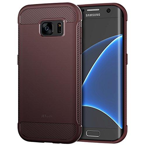 JETech Funda para Samsung Galaxy S7 Edge, Shock-Absorción y Diseño de Fibra de Carbon (Ciruela)