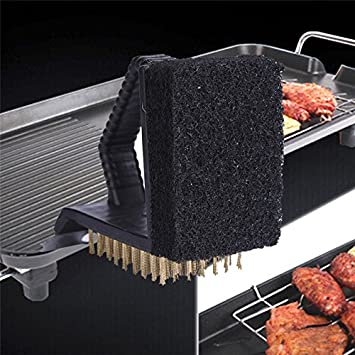 Barbacoa limpieza brushes-viewhuge 1pcs 3 en 1 barbacoa parrilla cepillo cepillos de limpieza Limpiador