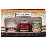 Yankee Candle Jar Holiday Christmas Party Gift, Small, Set of 3