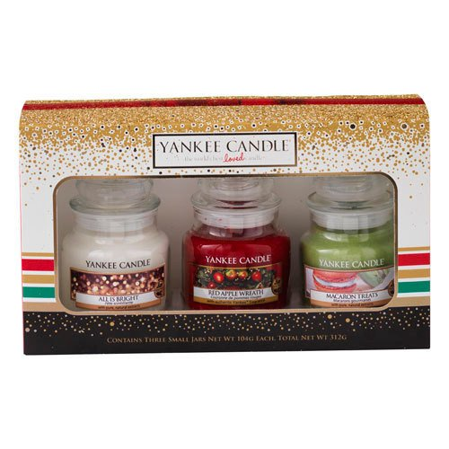 114 opinioni per Yankee Candle Christmas 2016 3 Small Jars Boxed Gift Set
