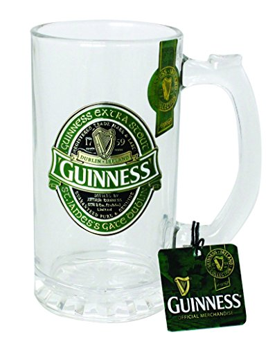 - Guinness Green Collection Tankard - Large Glass Beer Mug