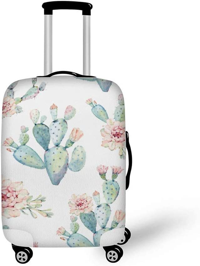DKISEE Travel Luggage Blush Vintage Roses Washable Suitcase Protector Baggage Covers Spandex Elastic Dustproof 18-32 Inch