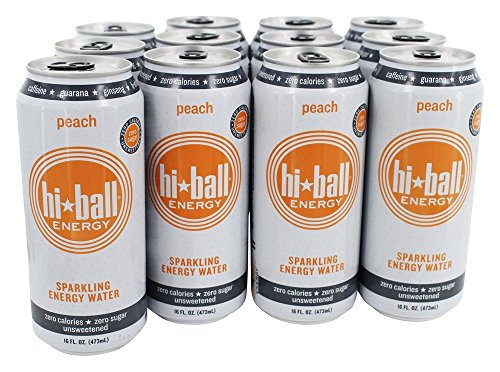 Hi Ball - Sparkling Energy Water Peach - 12 Can(s)