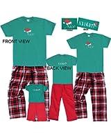 Christmas Nice-Naughty 2 Sided Holiday Clothing Set; Choose Adult or Kids