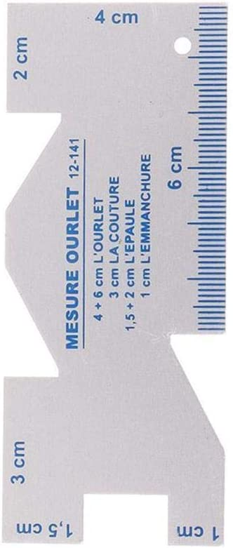 XCSM Multilateral Metal Patchwork Sastre Dise/ño de Costura Regla Espesor Medidor de Herramientas Suministros de Herramientas Artesan/ías de Bricolaje Prenda de Tela Sastre Corte Regla de Costura