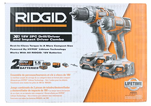 Ridgid X4 R9602 18V Lithium Ion Cordless Drill and Impact Driver Combo Kit with Soft-Sided Tool Case (2 Tools, 2 Compact Batteries, Charger, and Bag Included) by Rigid (Image #5)