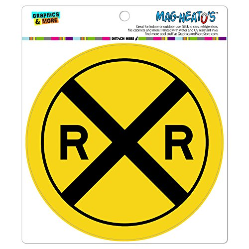 - Graphics and More Railroad Crossing Traffic Sign Train Automotive Car Refrigerator Locker Vinyl Magnet
